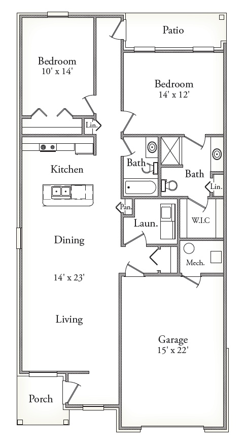 Features & Layouts: Townhomes Canton, MI | Northgate of Canton - Aspen_II