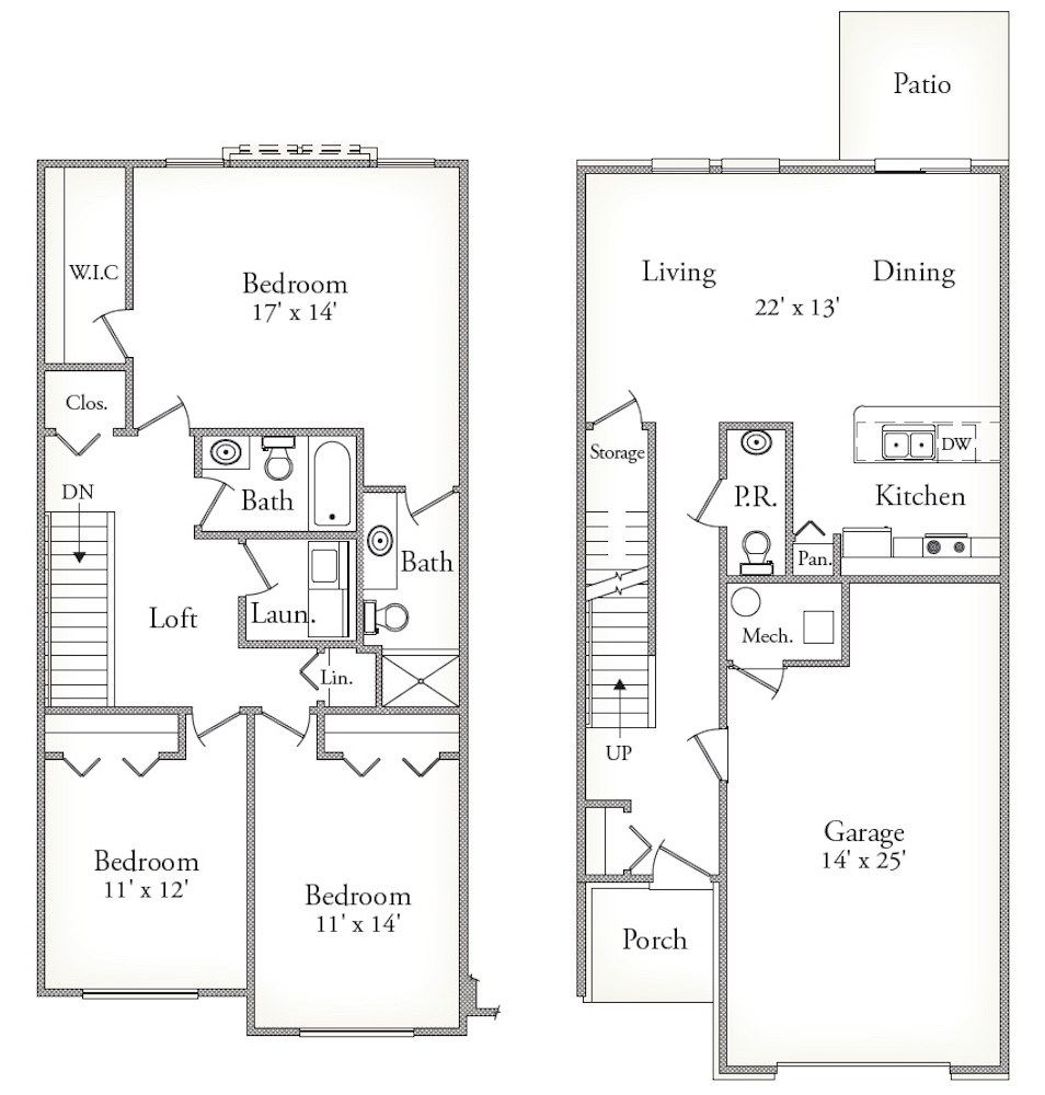 Features & Layouts: Townhomes Canton, MI | Northgate of Canton - Cedar_copy