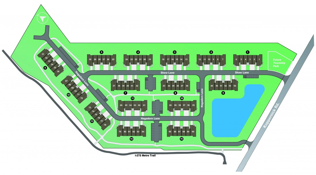 Features & Layouts: Townhomes Canton, MI | Northgate of Canton - NorthgateSiteMap-01